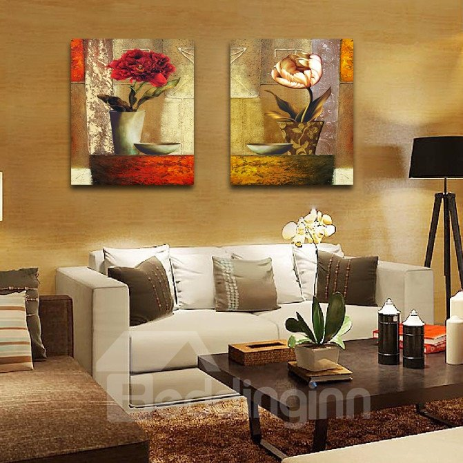 New Arrival Flowerpot On The Table Film Wall Art Prints