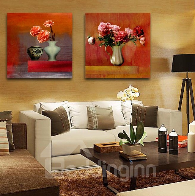 New Arrival Fragrant Blooming Flowers In Stylish Bottle Film Wall Art Prints