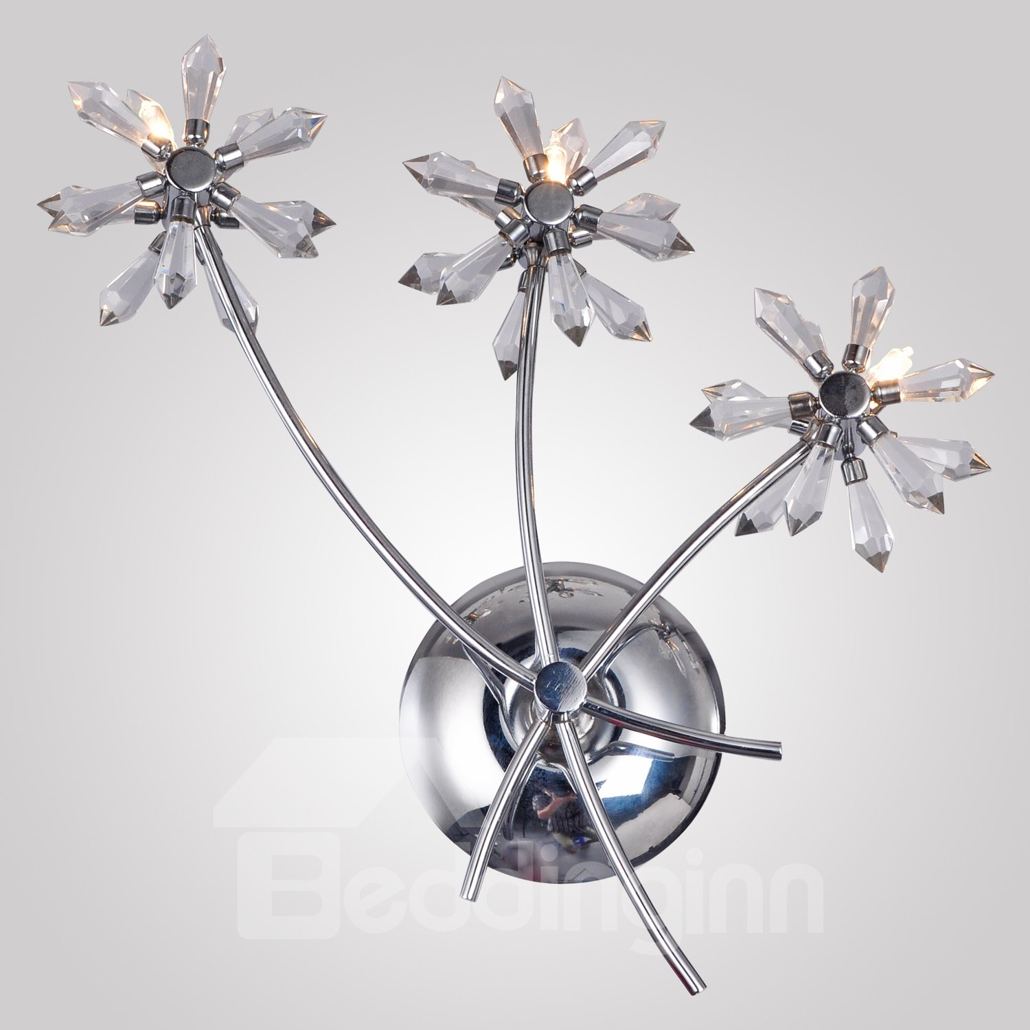 Fancy Bouquet Design Crystal Wall Light with 3 Lights
