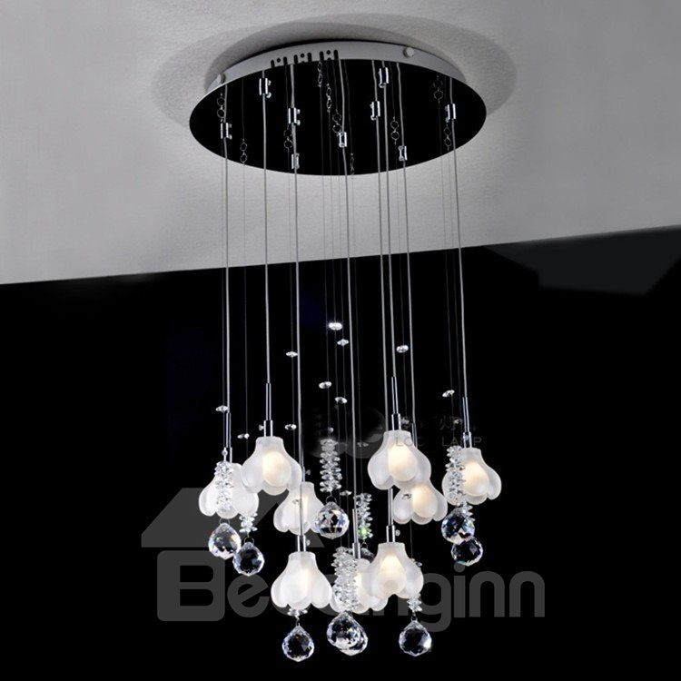 Beautiful K9 Crystal Mini Chandelier with 9 Lights