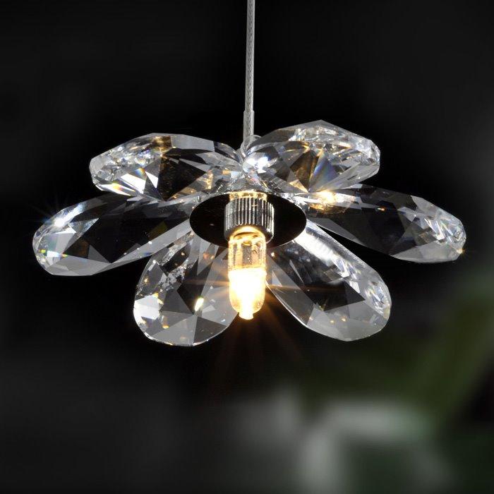 Charming 20W Crystal Floral Shape Pendant Light