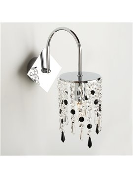 Elegant Contemporary Crystal Drop Chrome Finish Wall Light