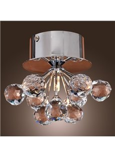 New Arrival K9 Floral Shape Crystal Flush Mount