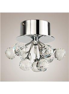 Delicate Simple Style Crystal K9 Floral Shape Flush Mount