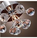 Delicate Simple Style Crystal K9 Floral Shape Flush Mount