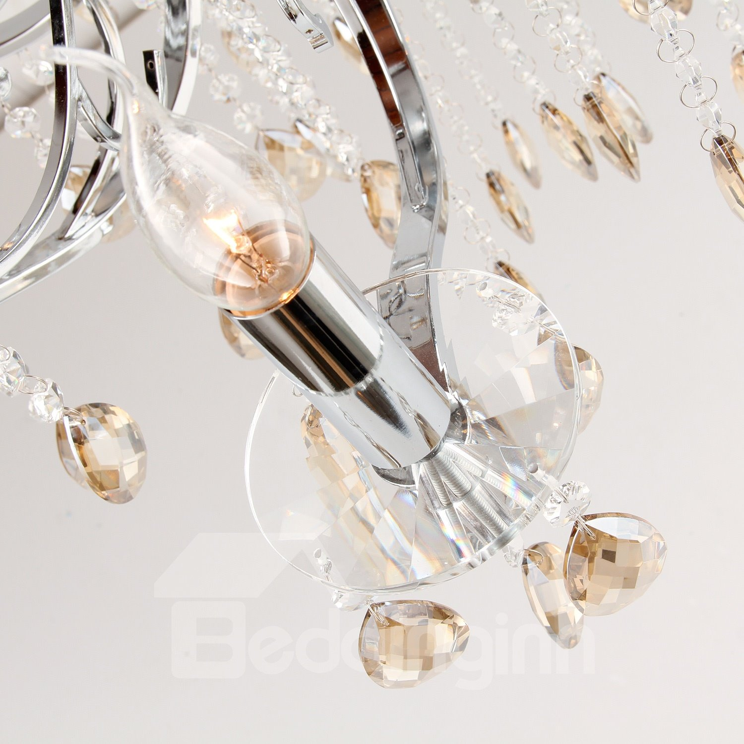 Fantastic Luxuriant Crystal with 8 Lights Chandelier