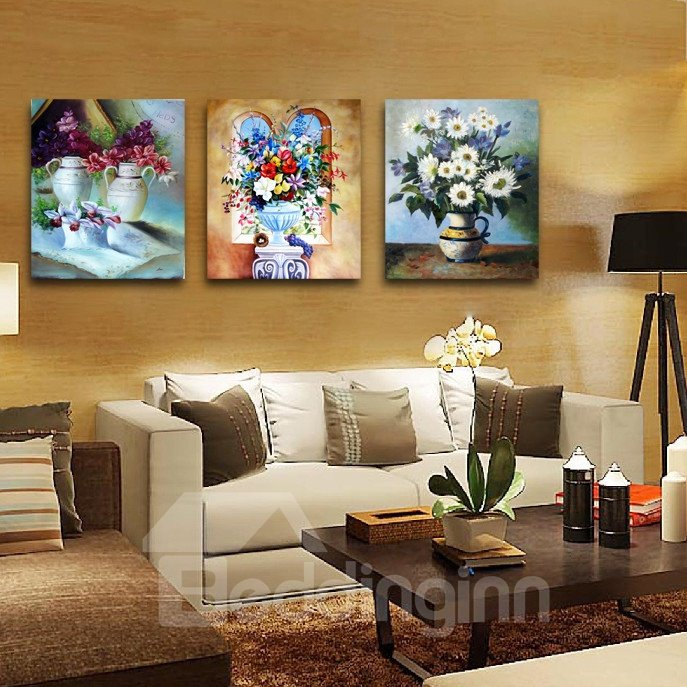 New Arrival Colorful Flowers In The Bottle Film Wall Art Prints