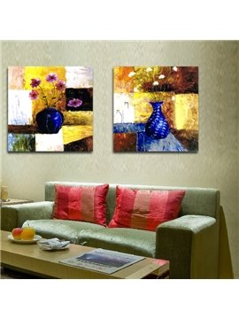New Arrival Colorful Flowers In The Blue Bottle Film Wall Art Prints