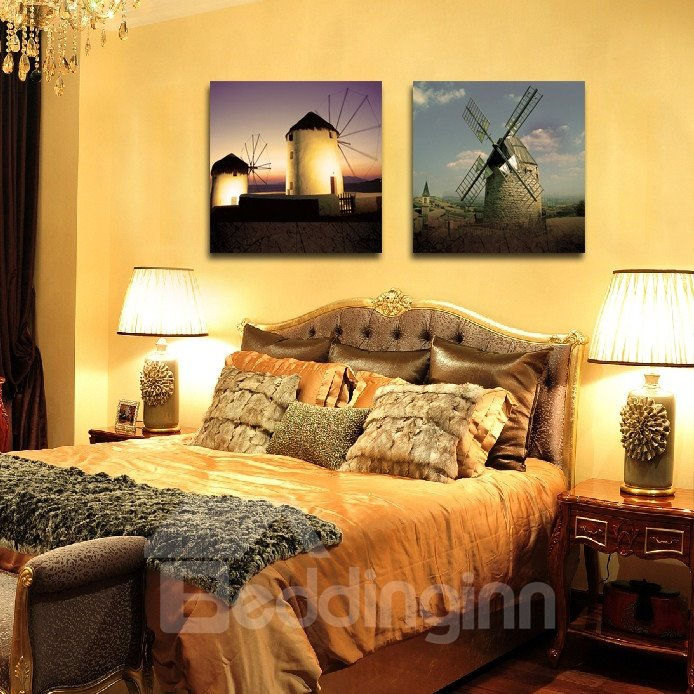 New Arrival Windmill Under Sushine Film Wall Art Prints