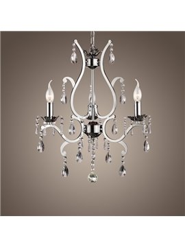 Metal Simple Design  Crystal 3 Lights Chandelier