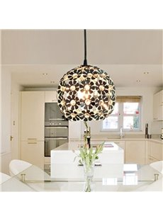 Globular Modern Minimalist Crystal Shade 1 Light Pendant