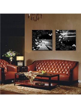 New Arrival Road Extends To Distance And Flowers Art Wall Prints