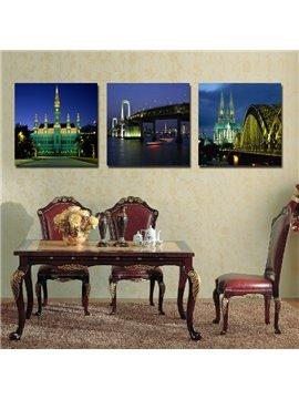 New Arrival Vienna Night View Film Art Wall Prints