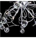 Enjoyable Luxuriant Metal Crystal 9 Lights Flush Mount