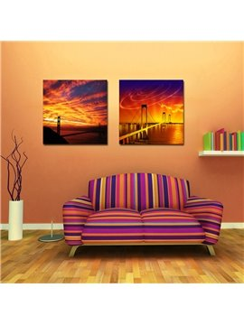 New Arrival Golden Gate Bridge And Colorful Cloud Film Art Wall Prints