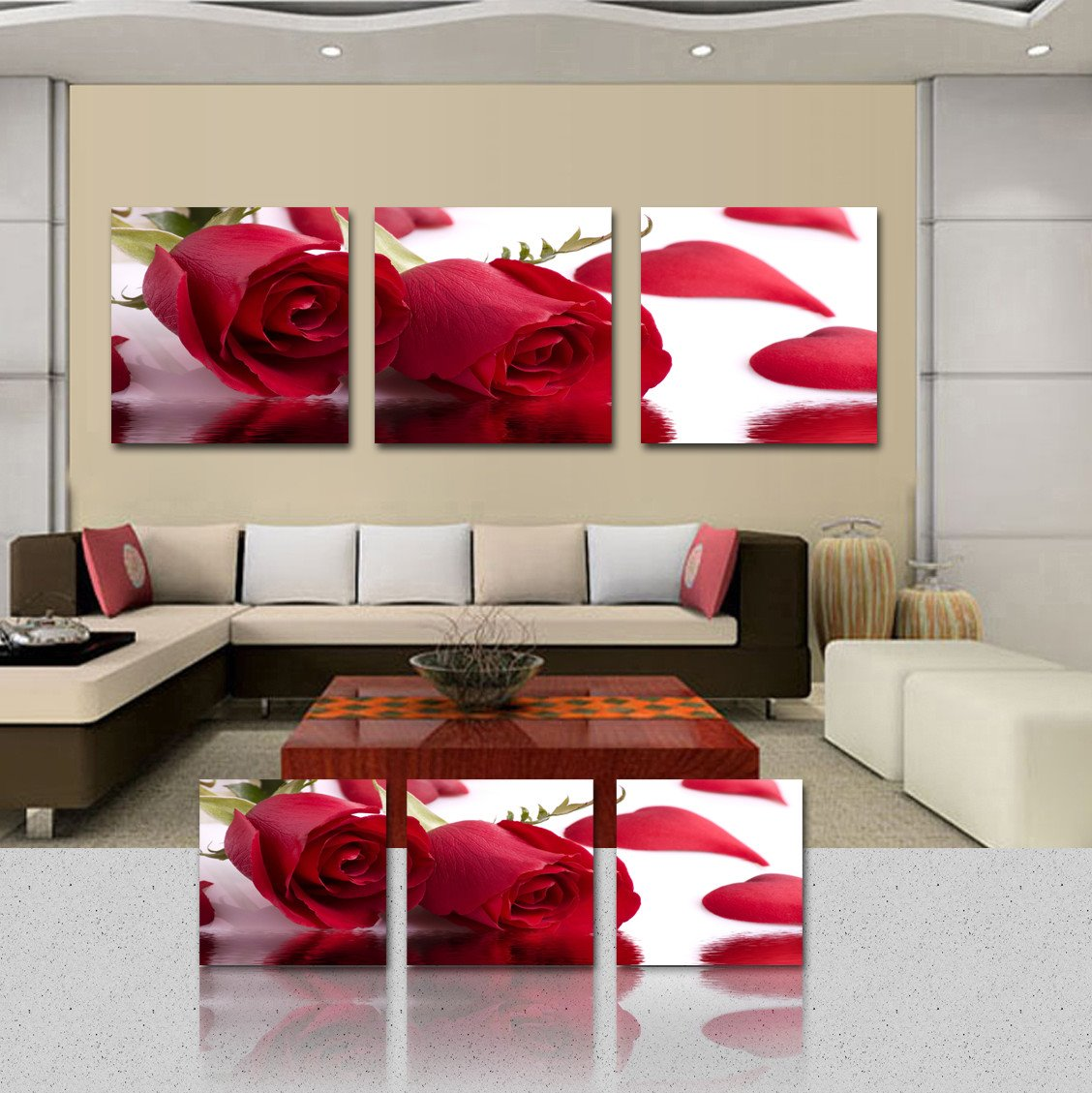 Delicate Red Roses Cross Film Art Wall Prints