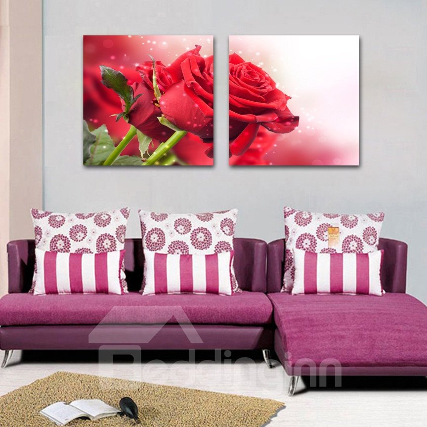 New Arrival Fragrant Red Rose Film Art Wall Prints