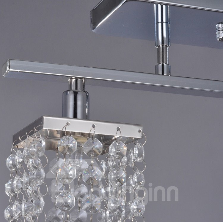 Fantastic Decorative Metal Crystal 3 Light Flush Mount