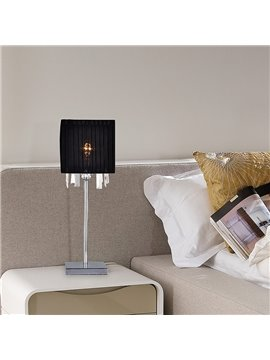 Black Stunning Creative Metal Crystal 1 Light Lamp