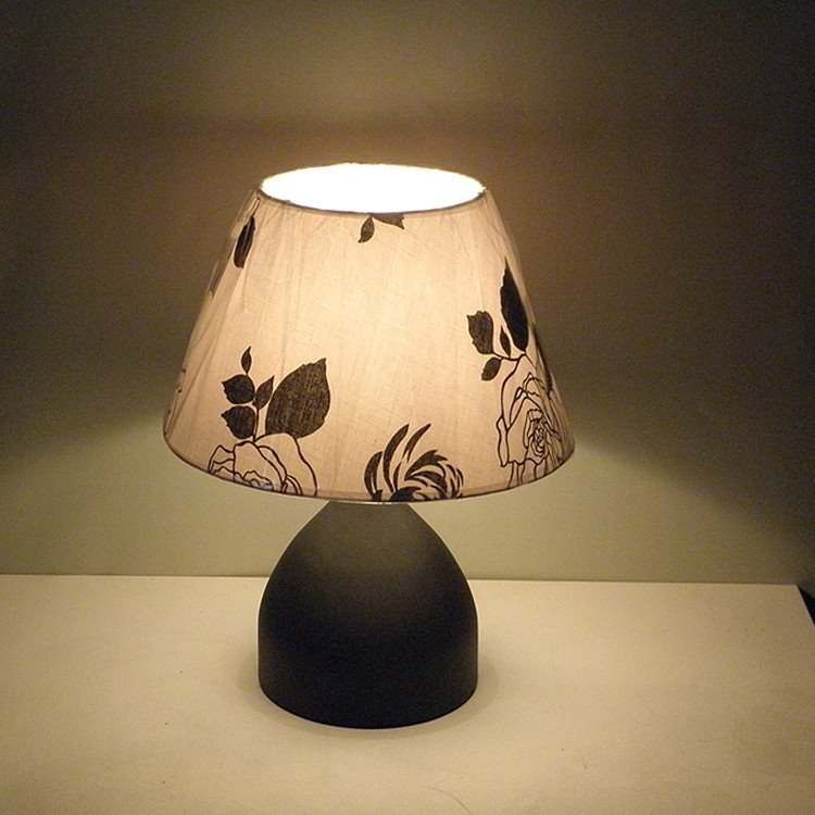 Amazing Floral Fabric Shade 1 Light Lamp