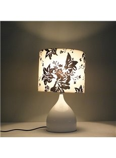 New Arrival Stunning BLack Floral Fabric Shade 1 Light Lamp