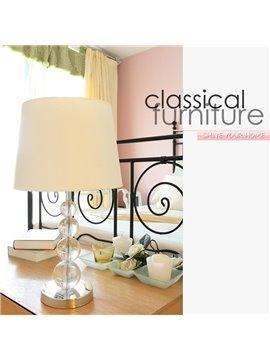 Glamorous White Fabric Shade 1 Light Lamp