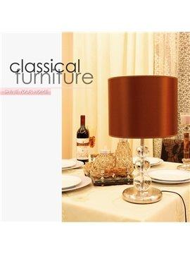 Stunning Red Fabric Shade 1 Light Lamp