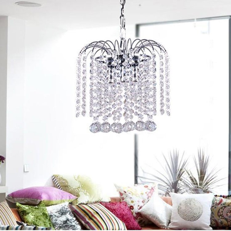Amazing White Metal Crystal Pendant Light
