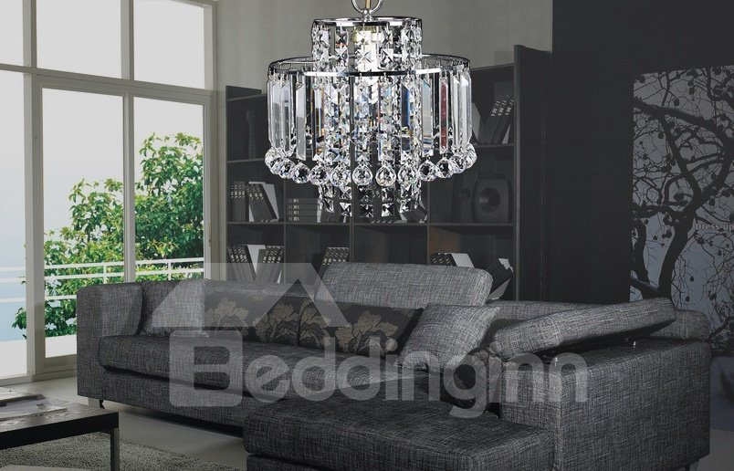Gorgrous Metal Frame Crystal Electroplated Finish Chandelier