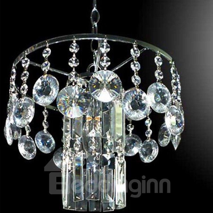 Amazing Chrome Metal K9 Crystal Pendant Light