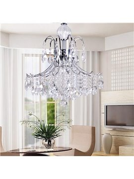 Wondeful Chrome Metal K9 Crystal Pendant Light