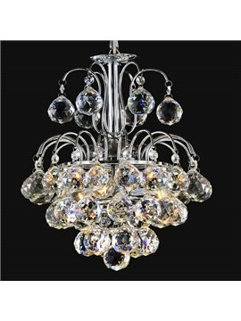 Stunning Metal K9 Crystal Chrome Pendant Light