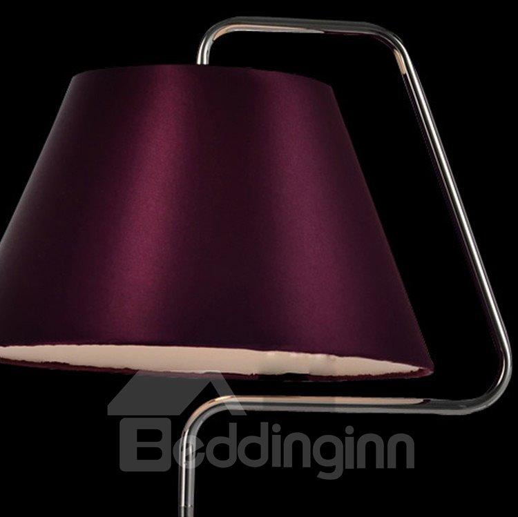 Charming Purple Metal Fabric Shade I Light Lamp