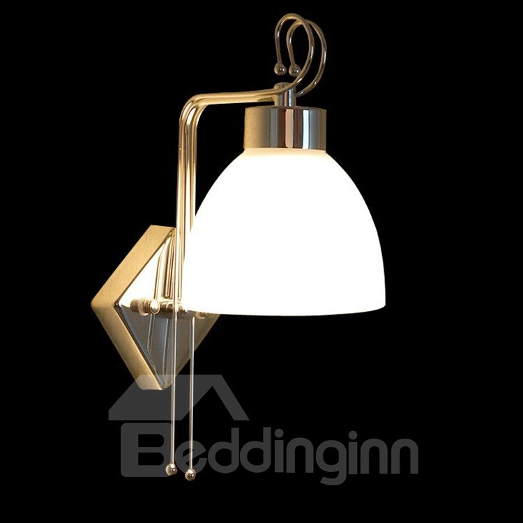 Comtemporary Stunning Metal Glass Shade Wall Light