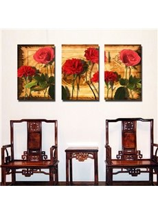 New Arrival Fragrant Red Flowers Canvas Wall Prints