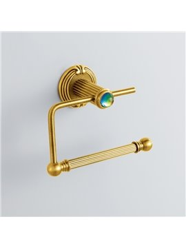 Colorful Crystal Decorated Ti-PAD Finish Brass Simple Toilet Paper Roll Holders Rack