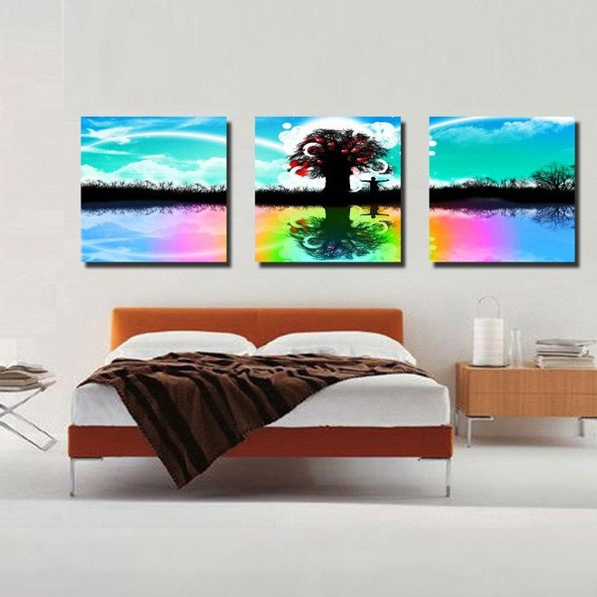 New Arrival Tree Reflection In the River Canvas Wall Prints