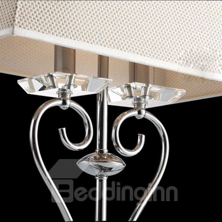 Stunning Chrome Metal Fabric Shade 1 Light Lamp
