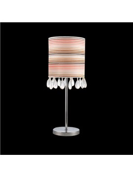 Stunning Metal Crystal Fabric Shade 1 Light Lamp