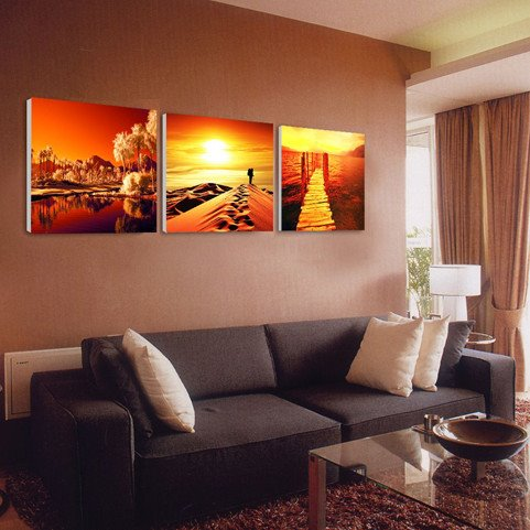 New Arrival Beautiful Scenery And Sunrise Canvas Wall Prints