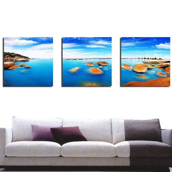 New Arrival Sea World And Blue Sky Canvas Wall Prints