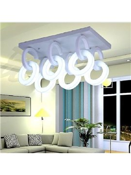 Amazing Metal Acrylic Shade 6 Lights Flush Mount