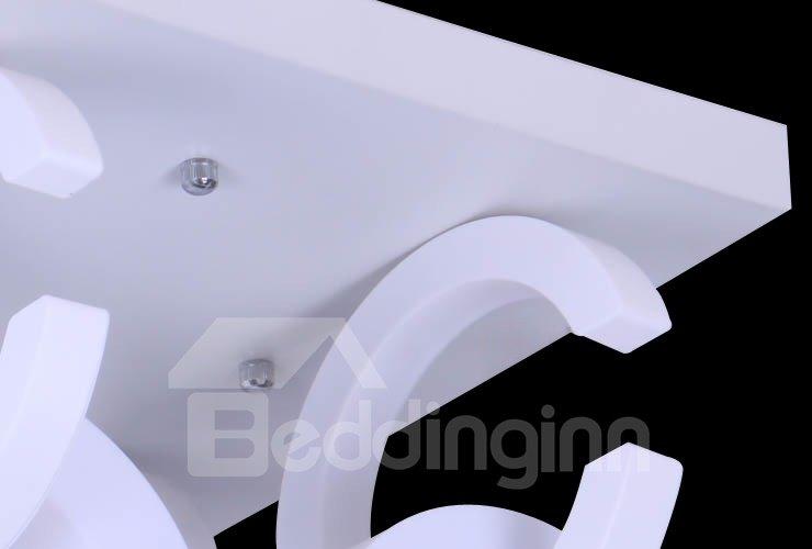 Amazing Metal Acrylic Shade 6 Lights Flush Mount