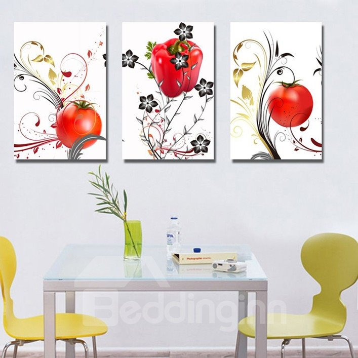 New Arrival Tomatoes And Flowers Canvas Wall Prints