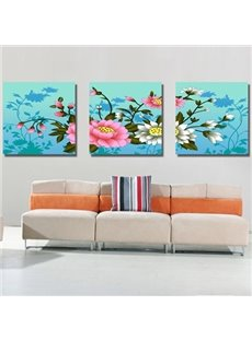 New Arrival Delicate and Colorful Flowers Canvas Wall Prints