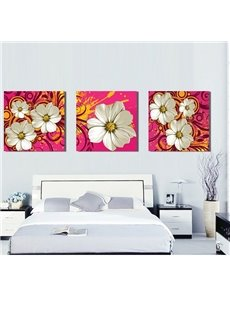 New Arrival Delicate White Flowers Canvas Wall Prints