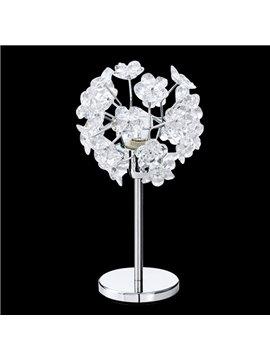 Charming Acrylic Floral Metal Base 1 Light Lamp