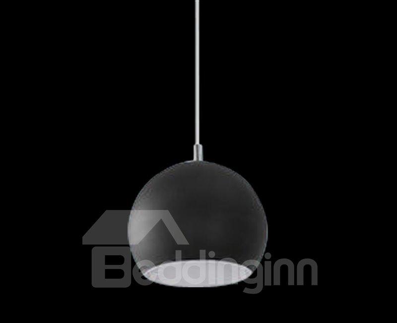 Amazing Black Glass Metal Top-sucking Disk 1 Light Pendant
