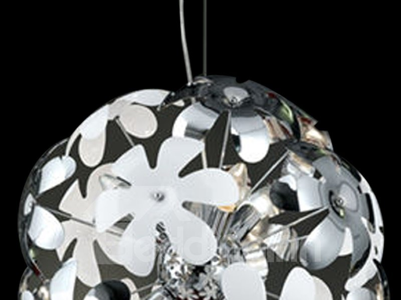Floral Stainless Steel Metal Top-sucking Disk Pendant Light