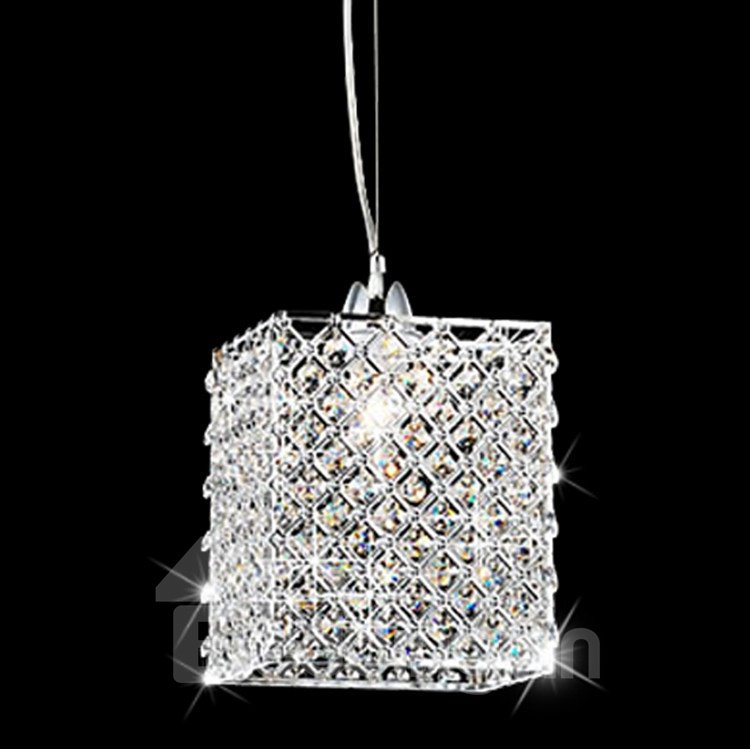 Shining Crystal Shade Metal Base Pendant Light